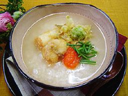 ふぐの天ぷら入り雑炊