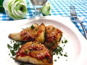 塩サバのトマトソース 香草パン粉焼き