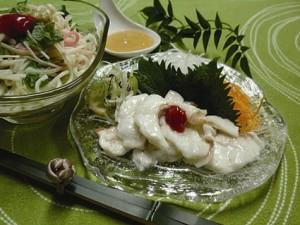 白身魚のくずたたき 酢みそ添え