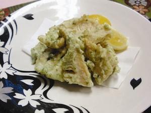 いかと筍の天ぷら
