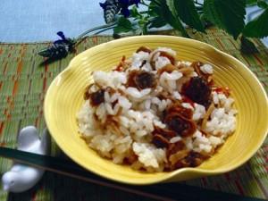 赤貝の混ぜご飯